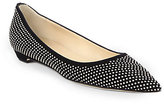 Jimmy Choo Sandy Studded Suede Skimmers