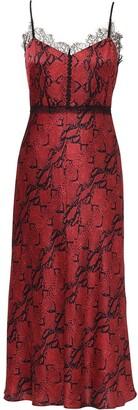 Jason Wu Bordeaux silk spaghetti strap dress