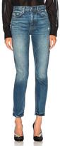 GRLFRND Karolina High Rise Skinny Jean in Blue.