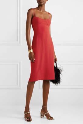 Reformation Isabel Shirred Crepe Dress - US0