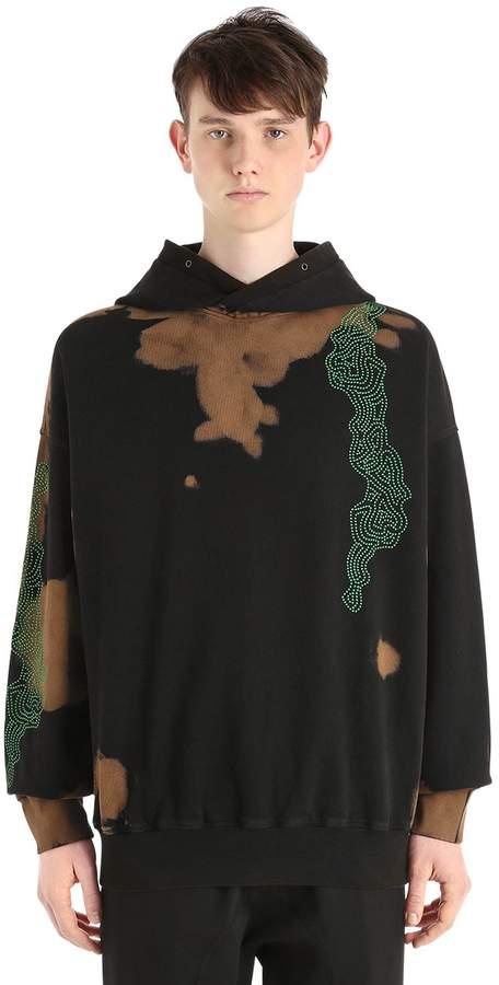 Damir Doma Oversize Hooded Bleach Jersey Sweatshirt