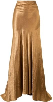 Ann Demeulemeester Metallic Maxi Skirt