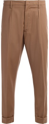 Dondup Xander Chino Pants Made Of Cinnamon-colored Wool
