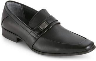 Calvin Klein Black Brighton Apron-Toe Loafers