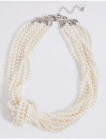M&S Collection Knot Pearl Necklace