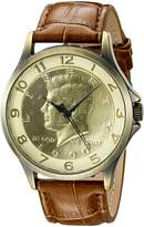 August Steiner Men's CN010YG Analog Display Japanese Quartz Brown Watch