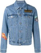 Kenzo embroidered patch denim jacket - men - Cotton - M