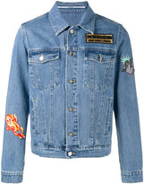 Kenzo embroidered patch denim jacket - men - Cotton - S