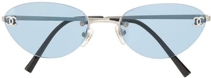 Chanel Pre-Owned CC plaque tinted sunglasses