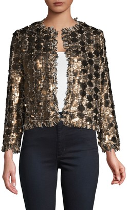 DOLCE CABO Sequin Open Front Jacket