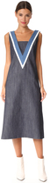 ADAM by Adam Lippes V Neck Dress