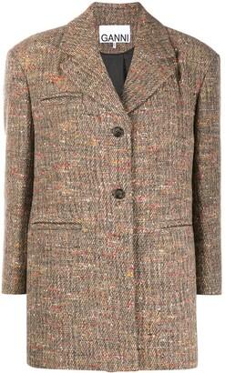 Ganni Oversized Single-Breasted Coat
