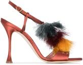 Manolo Blahnik Notta 120mm tassel-trimmed sandals