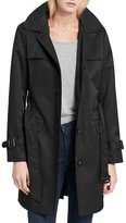 Calvin Klein Women's Water Resistant Belted Trench Coat