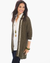 Chico's Sequin Trim Cardigan