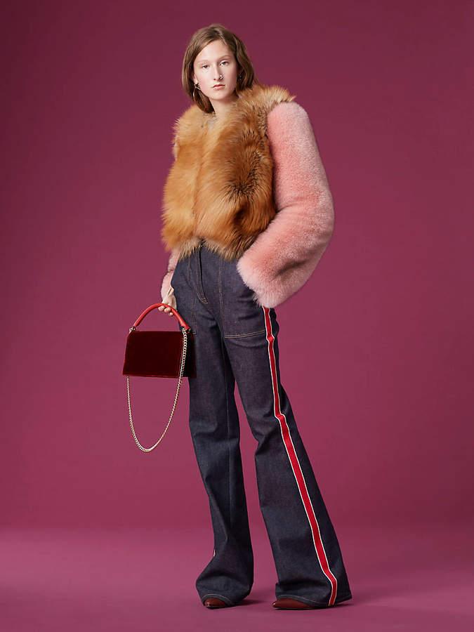 Diane von Furstenberg Long-Sleeve Fur Jacket