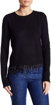 Lucy Paris Knit Feather Trim Sweater