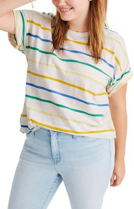 Madewell Raymond Stripe Whisper Cotton Rib Crewneck T-Shirt