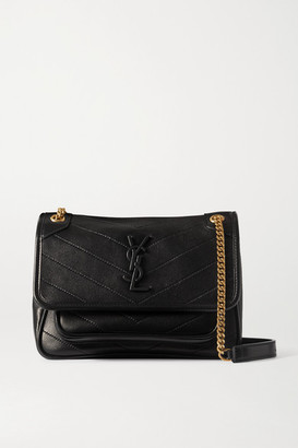 Saint Laurent Niki Mini Quilted Leather Shoulder Bag - Black