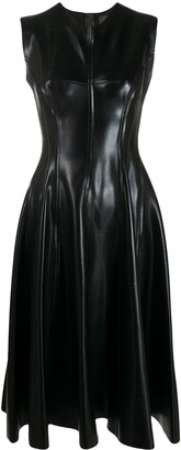 Norma Kamali Fit-And-Flare Coated Dress