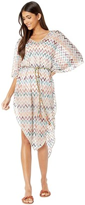 Missoni Mare Chevron Long Cover-Up Dress (White) Women's Swimwear