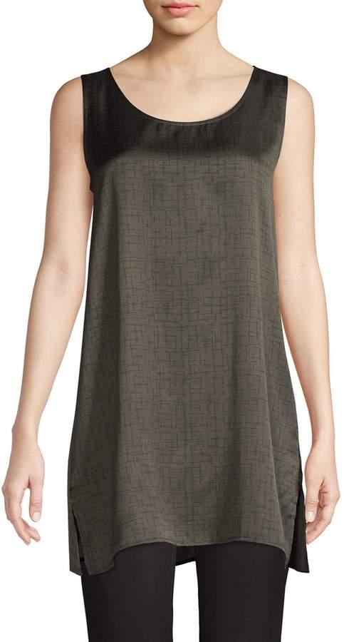 Eileen Fisher Printed Silk Cotton-Blend Tunic