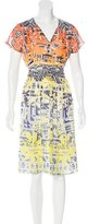 Matthew Williamson Silk Abstract Print Dress