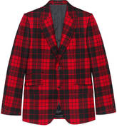 Gucci Heritage washed tartan suit