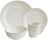 One Kings Lane 16-Pc Bianca Bead Dinnerware Set - white