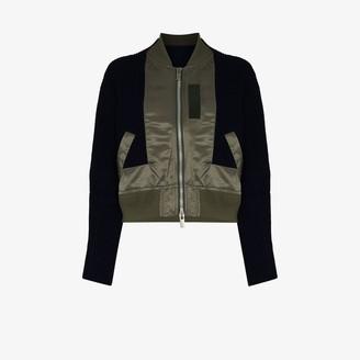 Sacai Knitted Panel Bomber Jacket