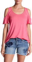 KUT from the Kloth Lattice Back Cold Shoulder Blouse