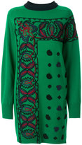 Sacai embroidered sweater dress - women - Rayon/Wool - II