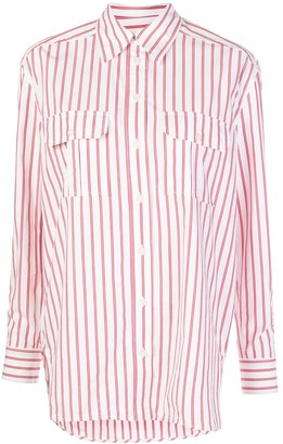 Ganni Striped Print Shirt