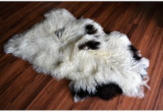 "Campana Animal Print Handmade 2'1"" x 3' Sheepskin Cream Indoor / Outdoor Area Rug Millwood Pines"