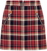 Rag & Bone Leah Tartan Cotton Mini Skirt - Red