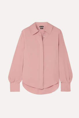 Tom Ford Silk Crepe De Chine Blouse - Pink