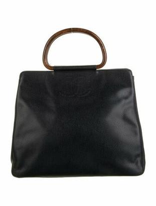 Chanel Vintage CC Caviar Handle Bag Black