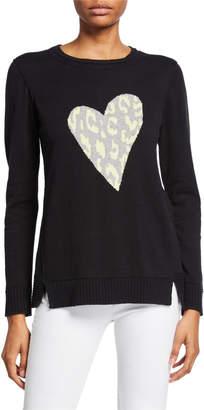 LISA TODD Animal-Print Heart Intarsia Sweater
