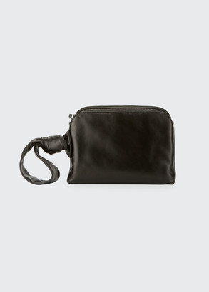 The Row Leather Wristlet Clutch Bag