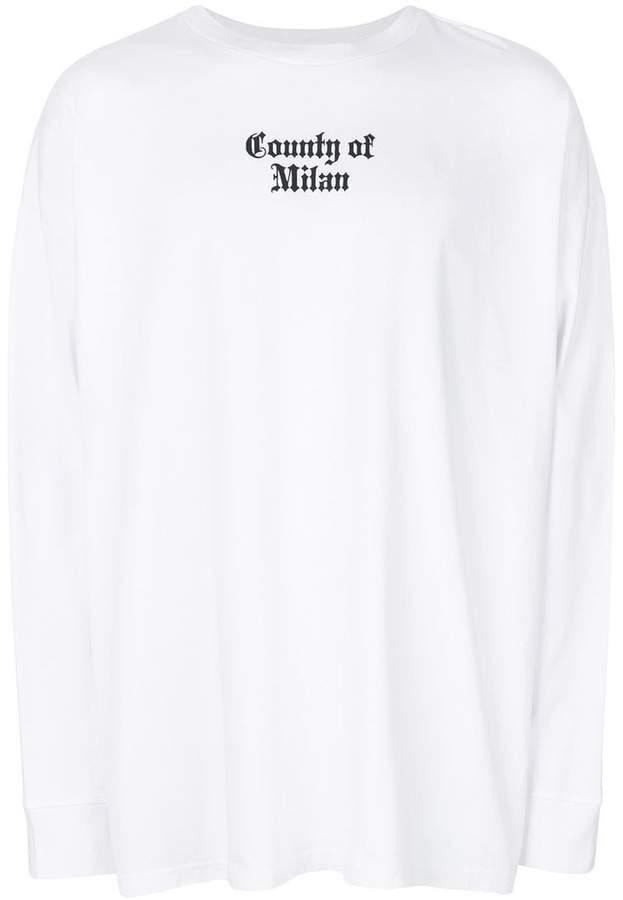 Marcelo Burlon County of Milan Nine Flags long sleeve tee