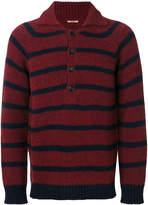 Nuur striped button-collar jumper