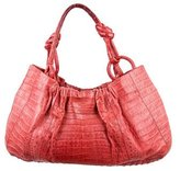 Nancy Gonzalez Crocodile Knotted Hobo