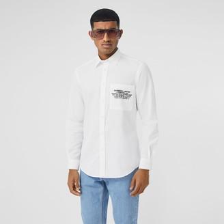 Burberry Classic Fit Location Print Cotton Shirt