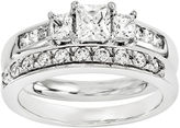 MODERN BRIDE 7/8 CT. T.W Diamond 14K White Gold Bridal Set