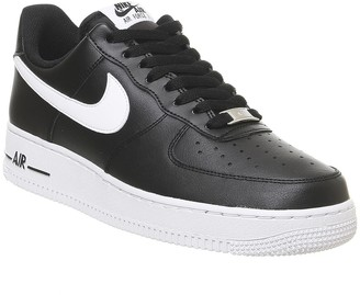 Nike Air Force One Trainers Black White Leather