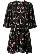 Valentino Love Blade print dress