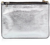 Alexander McQueen Metallic Leather Double-Pouch Cosmetic Case