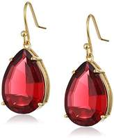 T Tahari Gold Siam Teardrop Earrings