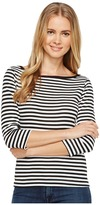 Three Dots Mykonos Stripe 3/4 Sleeve British