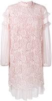 No.21 ruffled embroidery dress - women - Silk/Polyester - 38